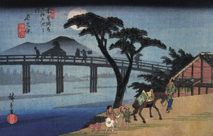 Hiroshige – Traversée d'un pont