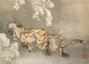 Hokusaï – Tigre sous la neige